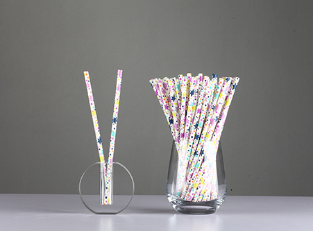 Manufacture Cheap Star Dot Eco Friendly Paper Straws