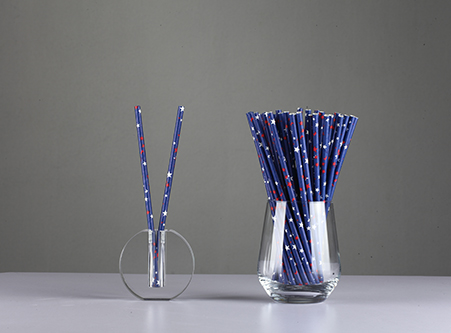 Custom Disposable Color Paper Straws with Star