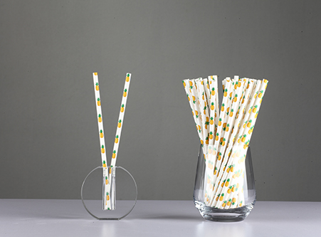 Custom Drinking Straws with Pineapple pattern