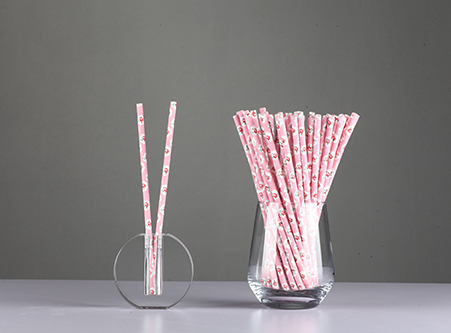 Drinking Paper Straws with Flower Manufacturer China