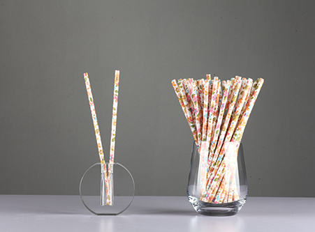 Cheap Paper Straws with Flower Biodegradable