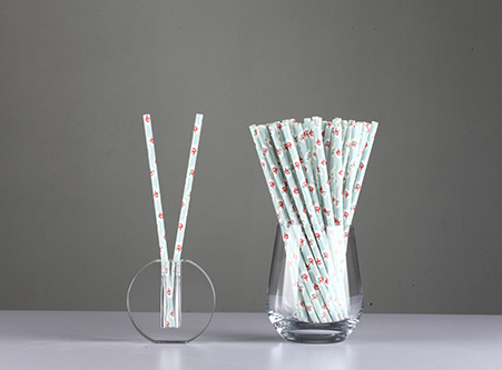Paper Straws Biodegradable with Beautiful Flower Exporter