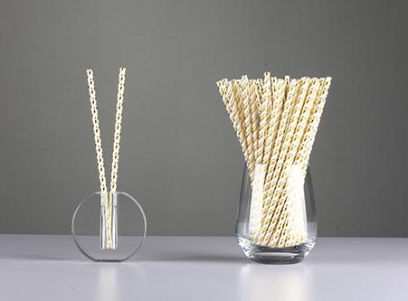 Beautiful gold Paper Straws Wholesale Cheap
