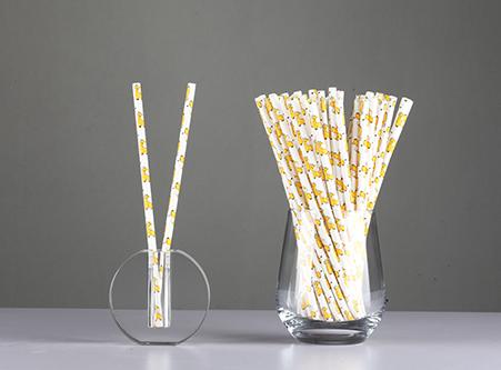 Custom Animal Giraffe Paper Straws Manufacture