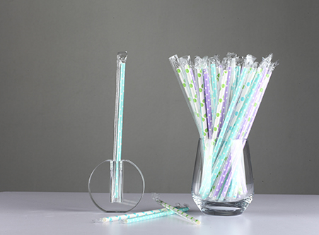Individually Wrapped Dot Paper Straws Supply