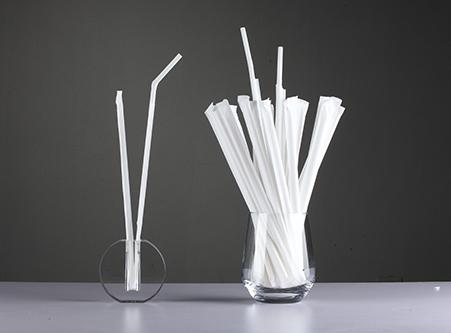 Export White Individual Wrapped Flexible Straws