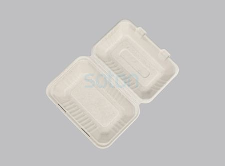 Biodegradable Wheat Straw  Clamshell Lunch Box