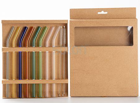 Wholesale Cheap Reusable Transparent Straws Colorful