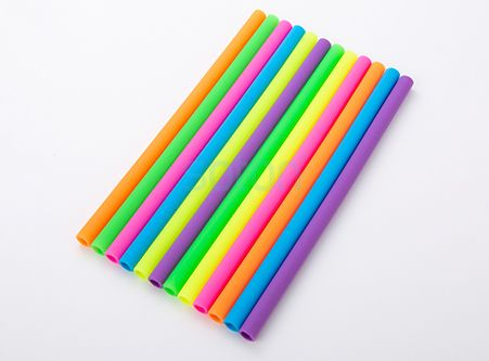 High Quality Reusable Silicone Drinking Straws