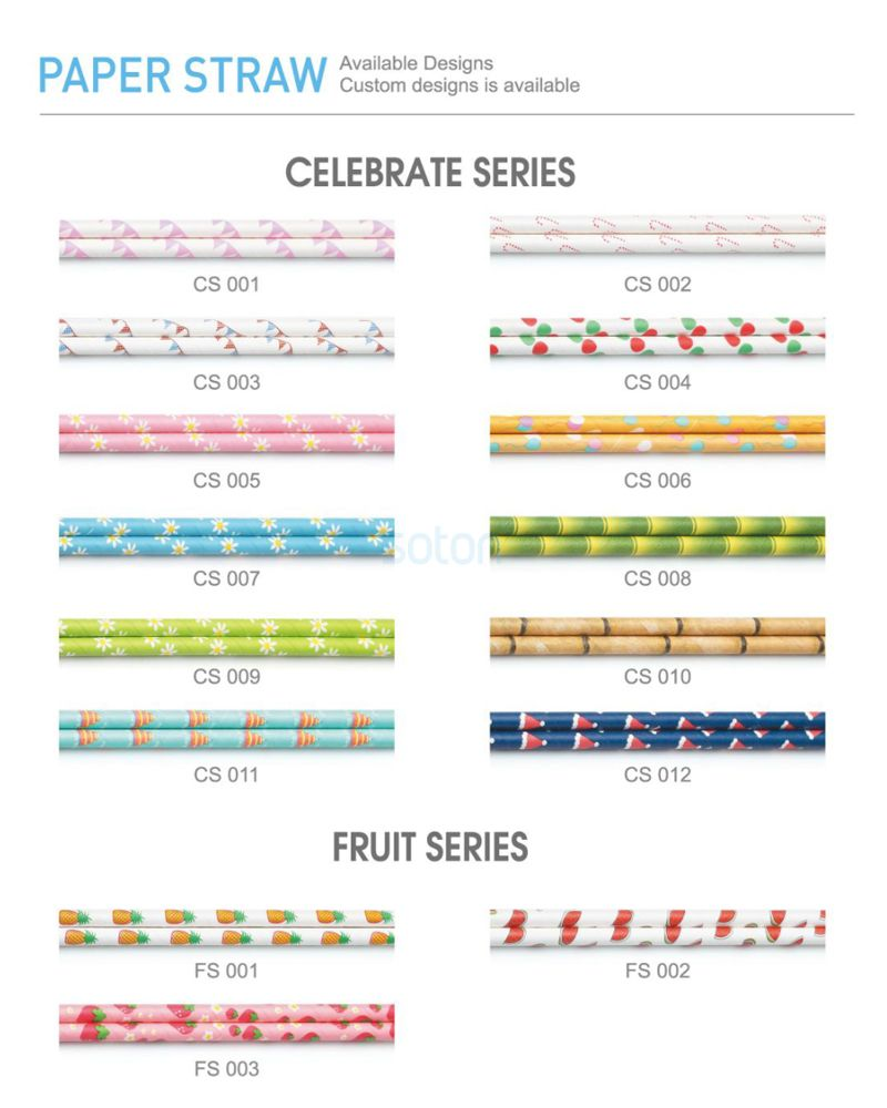 High Quality Paper Straws Colored Flag for Home