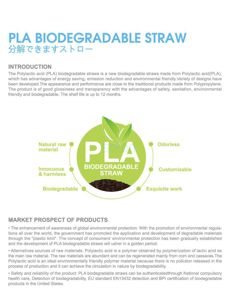 ODM Printed Biodegradable PLA Straw Supply