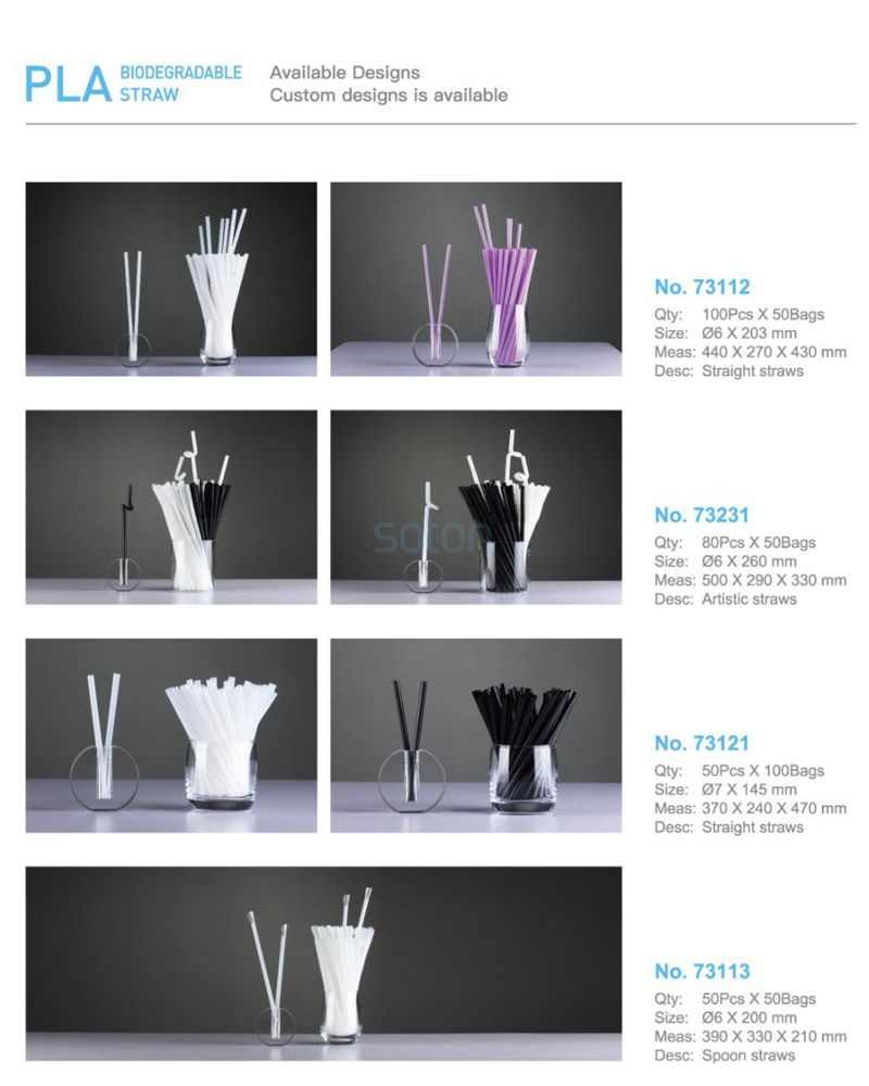 PLA Bent Straw Degradable Disposable Cheap Price